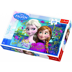 Trefl Puzzle Frozen Elsa And Anna 100 Parça - Thumbnail
