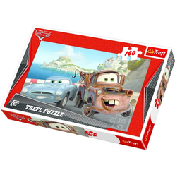 Trefl Cars 2 Mater ve Finn 160 Parça Puzzle 15196 - Thumbnail