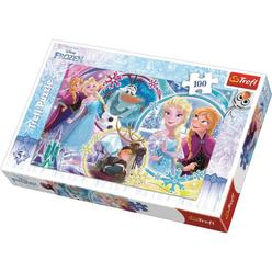 Trefl Disney Frozen The Land Of Friendship 100 Parça Puzzle 16340 - Thumbnail