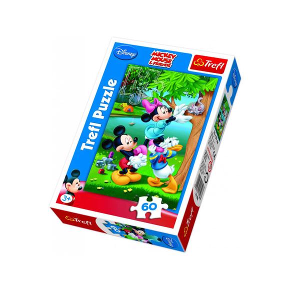 Trefl Mickey Minnie ve Donald Piknikte 60 Parça Puzzle 17198