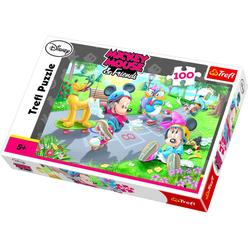 Trefl Mickey Mouse ve Arkadaşları Paten 100 Parça Puzzle 16249 - Thumbnail