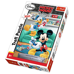 Trefl Mickey Mouse ve Donald Duck 100 Parça Puzzle 16291 - Thumbnail