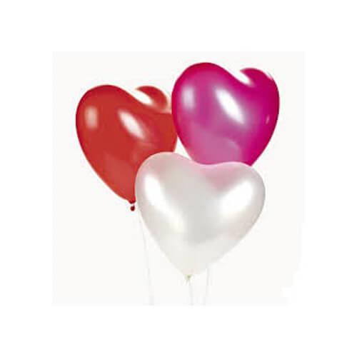 Trio Balon Kalp 8'li MNB058