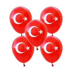 Trio Türk Bayrağı Balon 10'lu MNB009 - Thumbnail