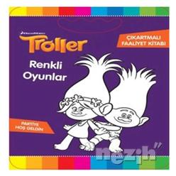 Troller - Renkli Oyunlar Çıkartmalı Faaliyet Kitabı - Thumbnail