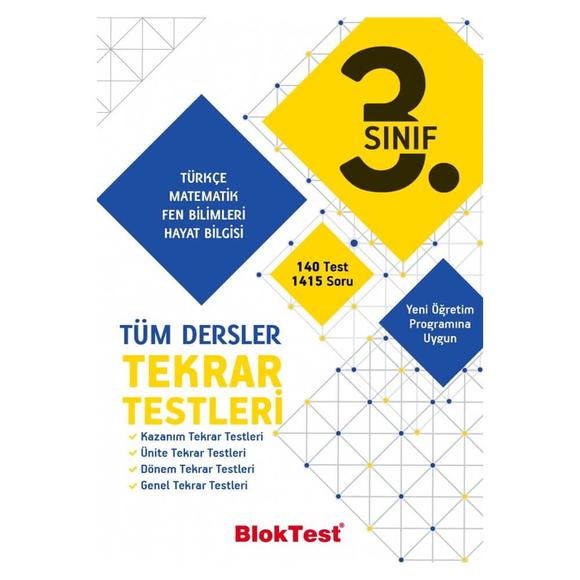 Tudem 3. Sınıf Bloktest Tüm Dersler Tekrar Testleri