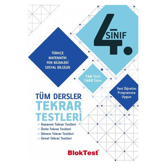 Tudem 4. Sınıf Bloktest Tüm Dersler Tekrar Testleri