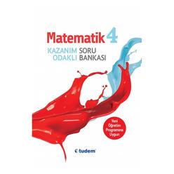 Tudem 4. Sınıf Matematik Kazanım Odaklı Soru Bankası - Thumbnail
