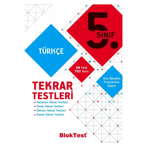Tudem 5. Sınıf Bloktest Türkçe Tekrar Testleri