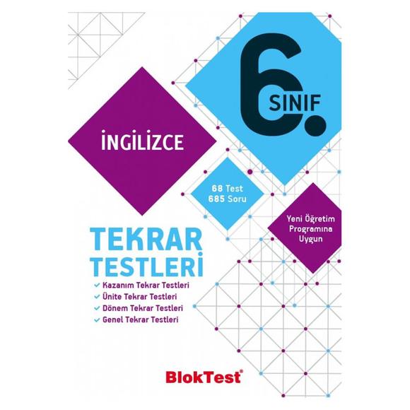 Tudem 6. Sınıf Bloktest İngilizce Tekrar Testleri