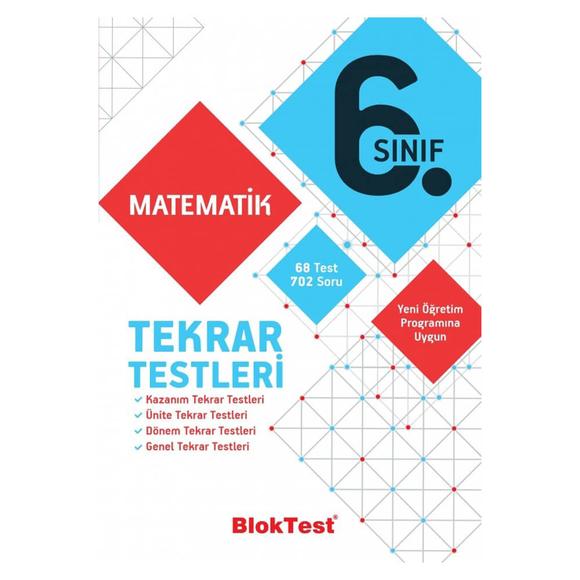 Tudem 6. Sınıf Bloktest Matematik Tekrar Testleri