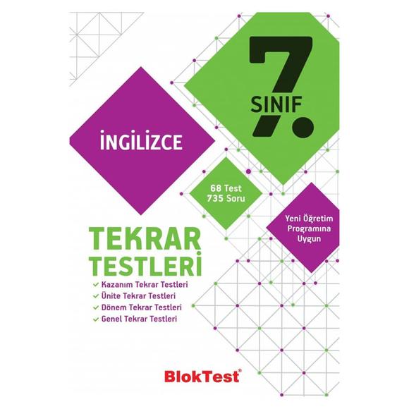 Tudem 7. Sınıf Bloktest İngilizce Tekrar Testleri