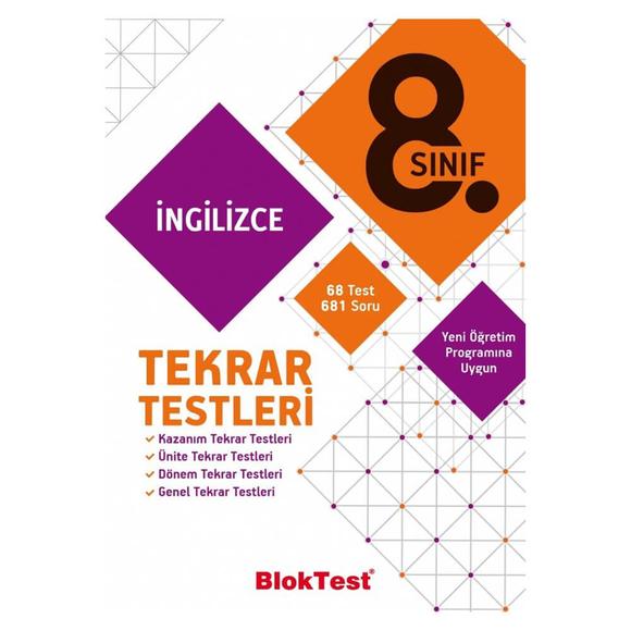 Tudem 8. Sınıf Bloktest İngilizce Tekrar Testleri