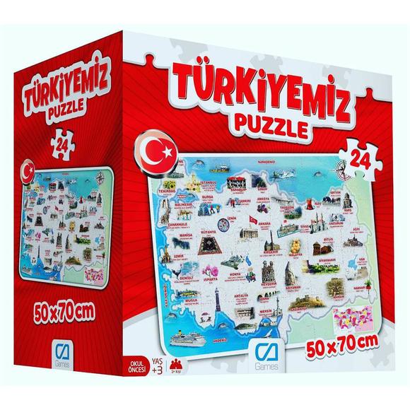 Türkiyemiz Yer 24 Parça Puzzle 5079