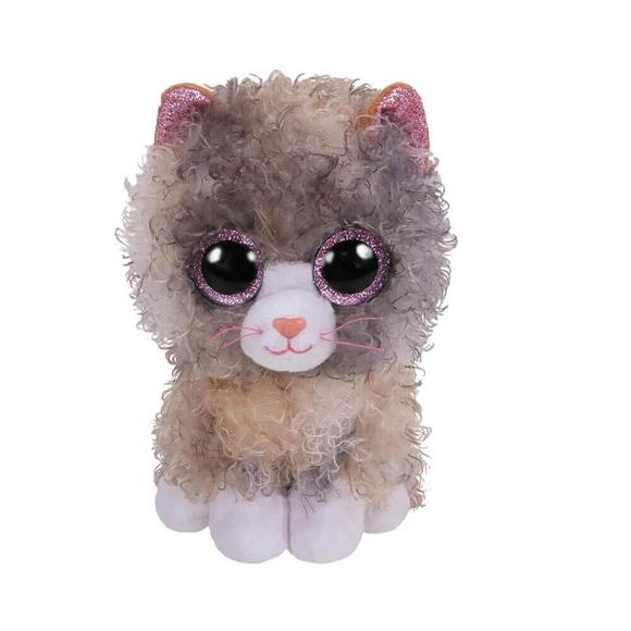TY Beanie Boo's Tbd Gri Kıvırcık Tüylü Kedi Peluş 36277