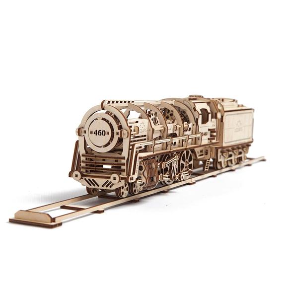 Ugears 3D Ahşap Puzzle Vagonlu Buharlı Lokomotif 70012