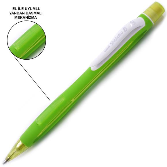 Uni-Ball Shalaku S Yandan Basmalı Mekanik Kurşun Kalem 0.5 mm M5-228
