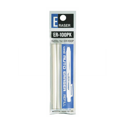 Uniball ER-100PK Kalem Silgi Yedeği 0.5 mm Beyaz 3'lü - Thumbnail
