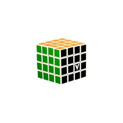 V-Cube 4x4 Klasik Zeka Küpü Beyaz - Thumbnail