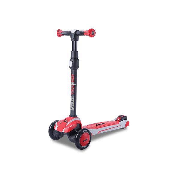 Voit Thunder 3 Teker Işıklı Scooter Beyaz - Kırmızı