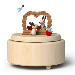 Wooderful Life Müzik Kutusu Aşık Tavşanlar 3005 - Thumbnail