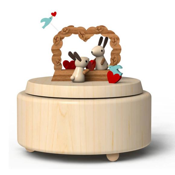 Wooderful Life Müzik Kutusu Aşık Tavşanlar 3005