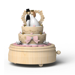 Wooderful Life Müzik Kutusu Düğün Pastası 3359 - Thumbnail