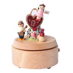 Wooderful Life Müzik Kutusu Kalp Anahtarı 1060504 - Thumbnail