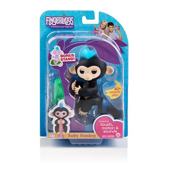 WowWee Fingerlings İnteraktif Bebek Maymun Siyah