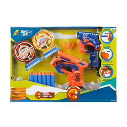 Zapp Toys Hedefli Sünger Dart Atan 2'li Silah 8 Dartlı S00001374 - Thumbnail